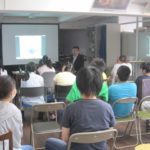 今月も支援施設・センターでの海洋活動の説明会を実施いたしました。